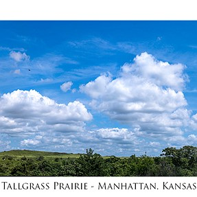K-1 Panorama:  Konza Tallgrass Prairie near Manhattan, Kansas