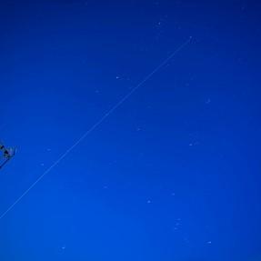 International Space Station, light trails