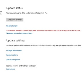 Windows Update issue question for windows 10