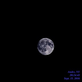 Nearly full moon (after nearly full bottle of vodka consumed)