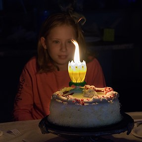 Birthday cake with D500 and 16-80mm at high ISO