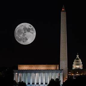 Super Moon over Washington, DC