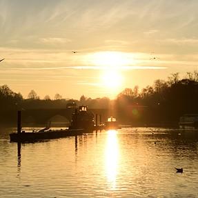 Lens flare :-(  . Sun light through Boat