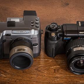 Two cameras with a Porro prism