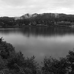 Lake In The Rain (B&W)