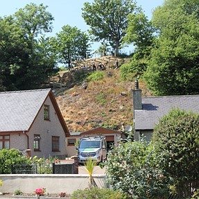 What could my neighbour be building on the hillside ?