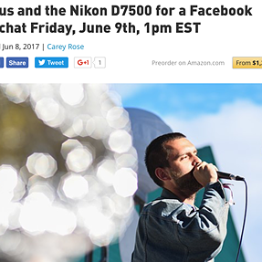 DPReview: Join us and the Nikon D7500 for a Facebook Live chat Friday, June 9th, 1pm EST..