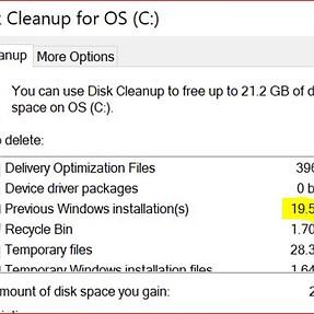 Remove Previous Windows Installation(s)?