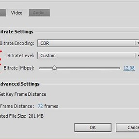 video settings for upload to Vimeo