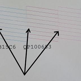Epson L800 strange nozzle test pattern