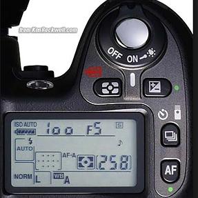 Understanding Top Screen of Nikon D80