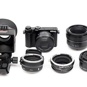 Nikon 1 J5 + 10-30mm + 18.5mm + 50mm + FT1 + AF/EXP Adapter + LCD Viewfinder