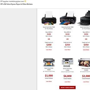 Epson Sure Color printer rebates are on