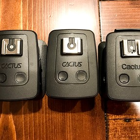 Cactus V5 Wireless Flash Trigger (3) $90 w/shipping or make offer