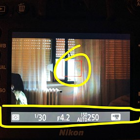 How to remove info display from Live View - Nikon D7200