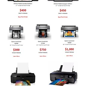 Discounts on Epson Sure Color printers - with a notable exception