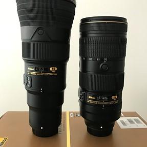 500PF and 70-200E size comparison.