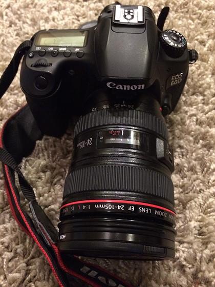 Canon EOS 60D w Canon EF 24-105 4L & accessories: For Sale