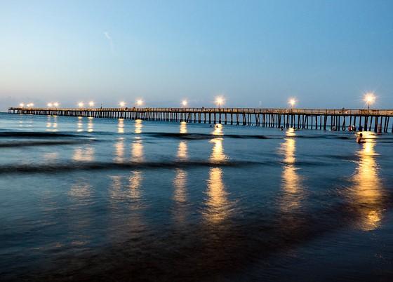 Lynnhaven pier sunset virginia beach panasonic compact for Lynnhaven fishing pier