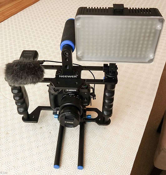 M5 in a Neewer DSLR Cage/Rig: Canon EOS M Talk Forum: Digital