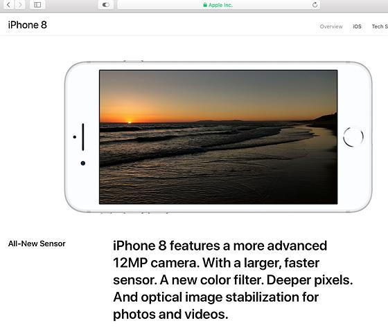IPhone 8 Sensor Size