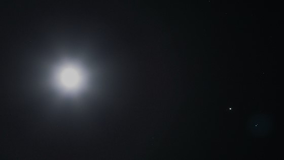 Moon and Jupiter Conjunction on 27 May 2018