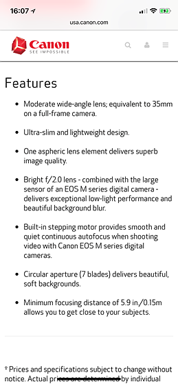 Canon EF-M 22mm F/2: Canon EOS M Talk Forum: Digital Photography Review