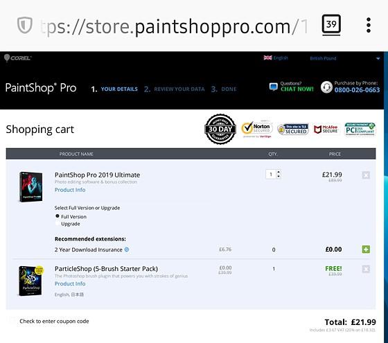 corel paintshop pro 2019 ultimate coupon