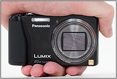 Panasonic Lumix DMC-ZS20 in the hand