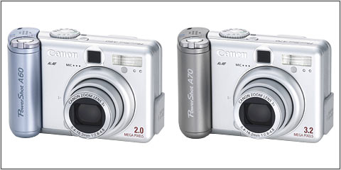 Canon PowerShot A60 and A70