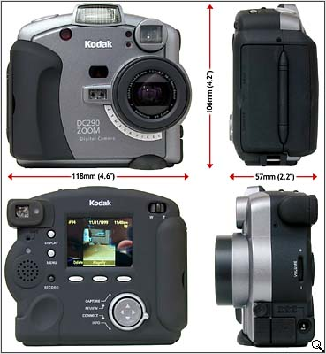 Kodak DC290 Zoom (all round view - click for larger image)