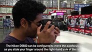 Using the Nikon D5600's touchpad autofocus feature with DPReview.com