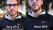 Sony a7R II video focus compared to Canon and Nikon