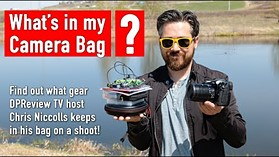 What does Chris keep in his Camera Bag?