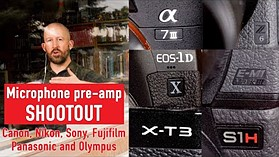 Which camera has the best audio pre-amps ? (Canon, Nikon, Sony, Fujifilm, Panasonic, Olympus)