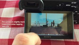 Sony a6500: Touchscreen Demonstration
